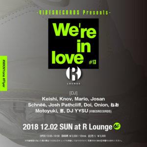 「We're in love #13」 flyer